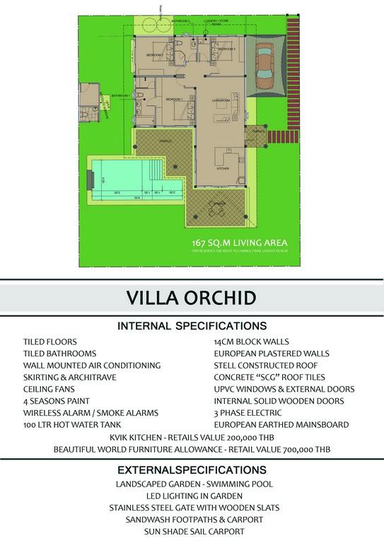 Villa Orchid - Back