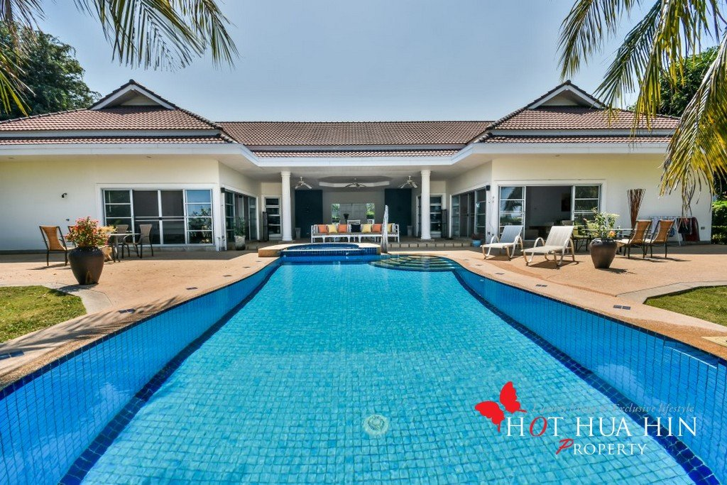 Great Price on a Unique Golf Course Home in Hua Hin facing a lake