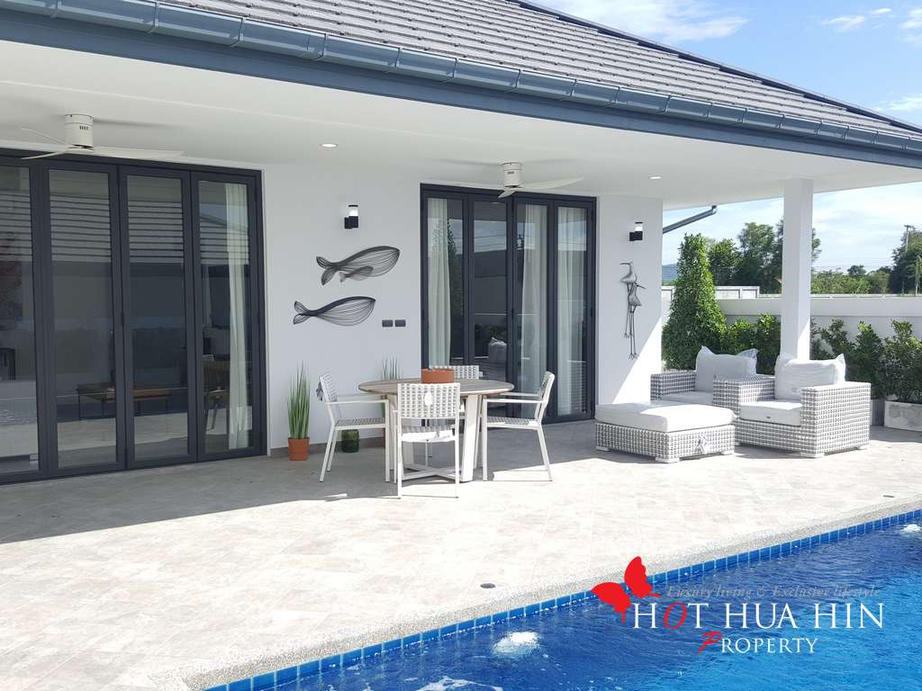 Nicely designed and furnished pool villa