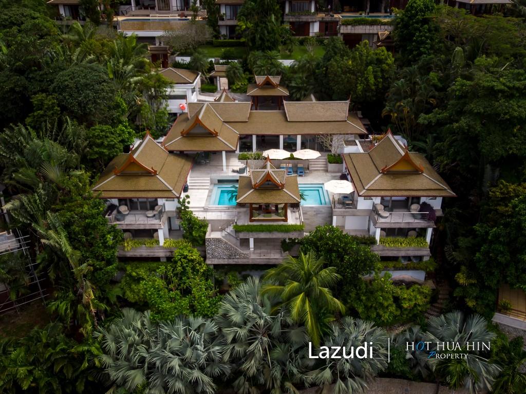 Sensational Surin Sea View Thai Contemporary Villa Pool Villa